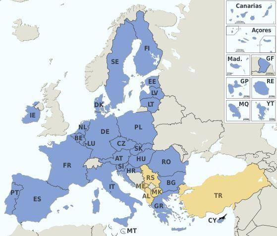 CE Zeichen Mitgliedstaaten EU