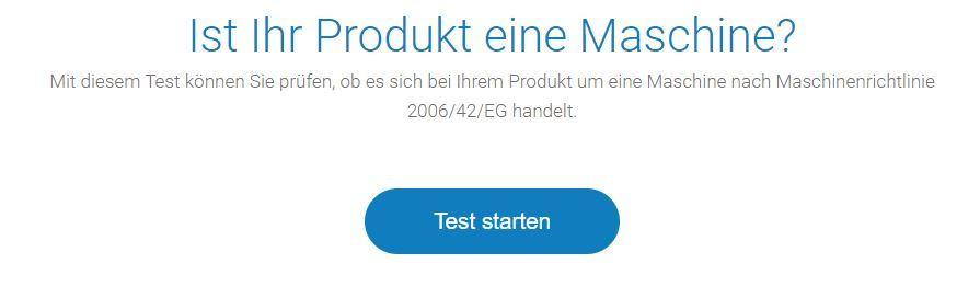 Online Check CE Kennzeichnung Maschine