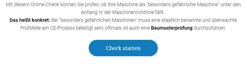 Online Check besonders gefährliche Maschine