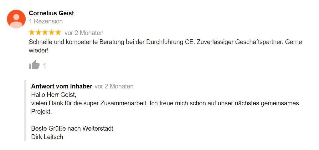 Bewertung Dirk Leitsch von Cornelius Geist