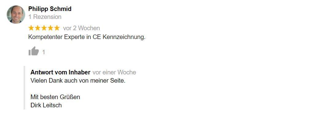 Bewertung Dirk Leitsch von Philipp Schmid
