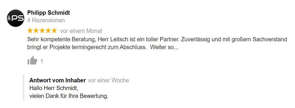 Bewertung Dirk Leitsch von Philipp Schmidt