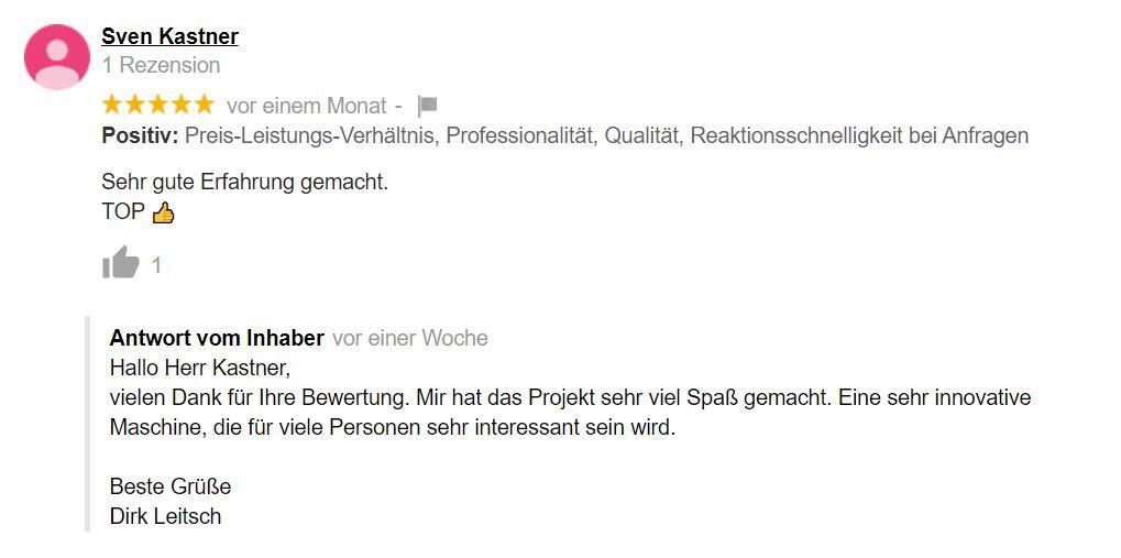 Bewertung Dirk Leitsch von Sven Kastner