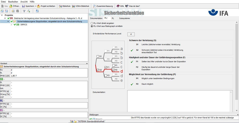 Bild der Software SISTEMA zur PL Berechnung